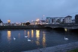 Galway docks at night
