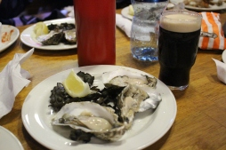 Oysters and Guinness.