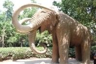 Random mammoth statue in park