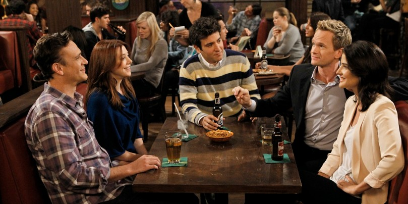 "LOS ANGELES - AUGUST 29: ""Who Wants To Be A Godparent"" """" When Lily and Marshall can't decide on godparents for Marvin, they put the gang to the test to see who would make the best one, on HOW I MET YOUR MOTHER, Monday, Oct. 15 (8:00-8:30 PM, ET/PT) on the CBS Television Network. Pictured left to right: Jason Segel, Alyson Hannigan, Josh Radnor, Neil Patrick Harris and Cobie Smulders (Photo by Cliff Lipson/CBS via Getty Images)"